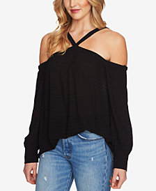 1.STATE Off-The-Shoulder Halter Top