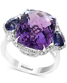 EFFY® Multi-Gemstone (9-9/10 ct. t.w.) & Diamond (1/5 ct. t.w.) Ring in 14k White Gold