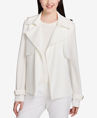 Belted Open Front Jacket by Calvin Klein