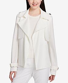 Calvin Klein Belted Open-Front Jacket