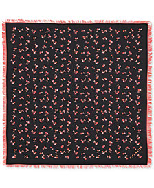 COACH Cherry Silk Square Scarf