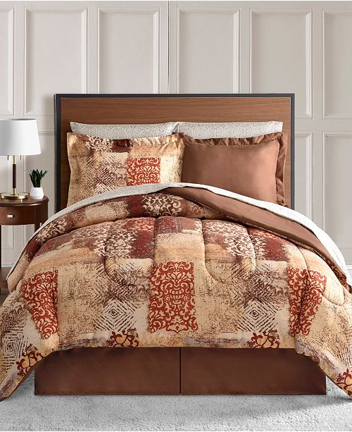 Fairfield Square Collection Tyler Reversible 8-Pc. Full Comforter Set