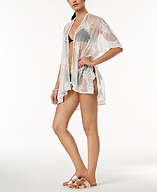 I.N.C. Embroidered Mesh Cape & Cover-Up, Created for Macy's