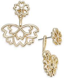 I.N.C. Gold-Tone Flower Jacket Earrings, Created for Macy's