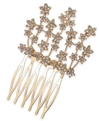 I.N.C. Crystal Flower Hair Comb, Created for Macy's