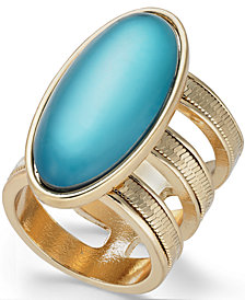 Thalia Sodi Gold-Tone Large Stone Triple Row Ring, Created for Macy's