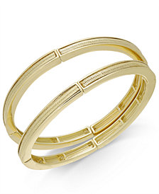 Thalia Sodi Gold-Tone 2-Pc. Set Herringbone Stretch Bracelets, Created for Macy's