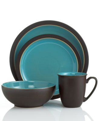 Denby Dinnerware Duets Brown and Turquoise 4 Piece Place Setting  sc 1 st  Macy\u0027s & Denby Dinnerware Duets Brown and Turquoise 4 Piece Place Setting ...