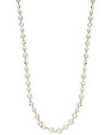 "Crystal & Imitation Pearl Strand Necklace, 42"" + 2"" extender, Created for Macy's"