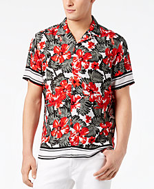 I.N.C. Men's Tropical-Print Shirt, Created for Macy's