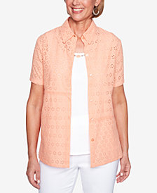 Alfred Dunner Los Cabos Layered-Look Necklace Top