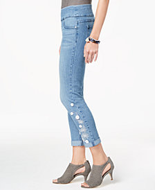 Style & Co Embellished Boyfriend Jeans, Created for Macy's
