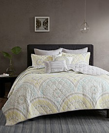 Matti Cotton 7-Pc. Full/Queen Coverlet Set