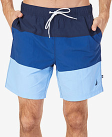"Nautica Men's Tri-Block 8"" Swim Trunks"