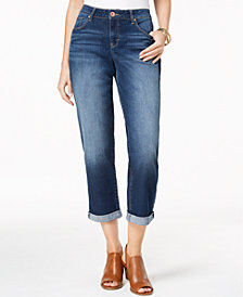 Style & Co Petite Boyfriend Jean Curvy Marseille Wash Skinny Jeans, Created for Macy's