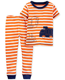 Carter's Little Planet Organics 2-Pc. Construction Trucks Cotton Pajama Set, Baby Boys