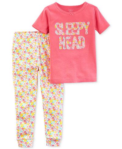 Carter's Little Planet Organics 2-Pc. Sleepy Head Cotton Pajama Set, Baby Girls