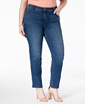 2f2b7f4caf8 Style   Co Plus   Petite Plus Size Tummy-Control Slim-Leg Jeans