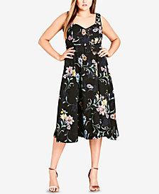 City Chic Trendy Plus Size Belted Midi Dress
