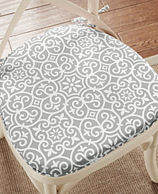 Madison Park Aptos Fretwork Weather-Resistant Indoor/Outdoor Chair Pad Pair with 3M Scotchgard