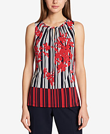 Tommy Hilfiger Colorblocked Keyhole Top
