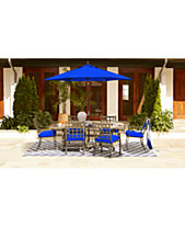 closeout highland blue outdoor dining collection with sunbrella cushions created for macy s