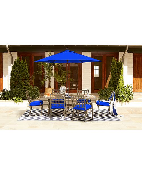 6d5da4d39ebb Furniture CLOSEOUT! Highland Blue Outdoor Dining Collection