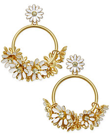 kate spade new york 14k Gold-Plated Drop Hoop Earrings