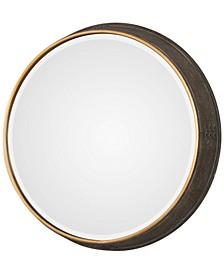 Sturdivant Antiqued Gold-Tone Round Mirror