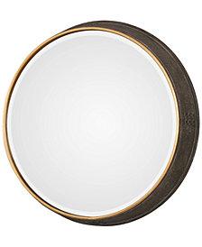 Uttermost Sturdivant Antiqued Gold-Tone Round Mirror