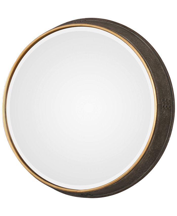 Uttermost - Sturdivant Antiqued Gold-Tone Round Mirror