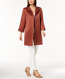 Eileen Fisher Silk-Linen Coat