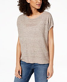 Eileen Fisher Organic Linen Poncho Sweater