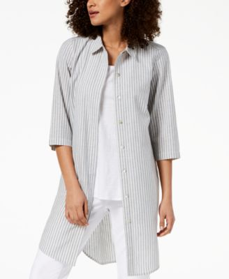 Hemp Blend Striped Tunic, Regular & Petite