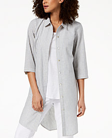 Eileen Fisher Hemp Blend Striped Tunic, Regular & Petite
