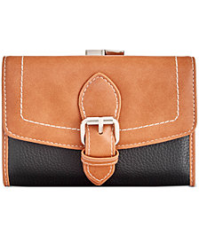 Giani Bernini Frame Leather Trifold Wallet, Created for Macy's