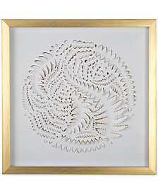 Graham & Brown Golden Leaves Laser-Cut Framed Print