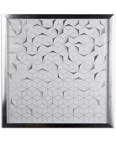 Graham & Brown Silver Origami Laser-Cut Framed Print