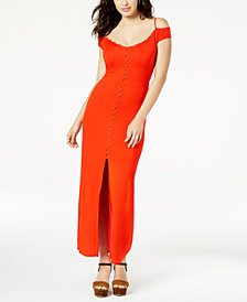 GUESS Ensley Cold-Shoulder Maxi Dress