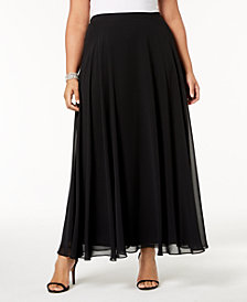 Alex Evenings Plus Size Chiffon Maxi Skirt