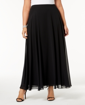 1920s Skirts, Gatsby Skirts, Vintage Pleated Skirts Alex Evenings Plus Size Chiffon Maxi Skirt $99.00 AT vintagedancer.com