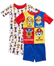 Nickelodeon's® Paw Patrol 4-Pc. Graphic-Print Cotton Pajama Set, Toddler Boys