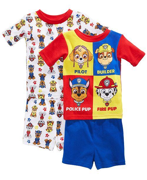 bb1f824276 PAW Patrol Nickelodeon s® 4-Pc. Graphic-Print Cotton Pajama Set ...