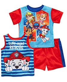 Nickelodeon's® Paw Patrol 3-Pc. Graphic-Print Pajama Set, Toddler Boys