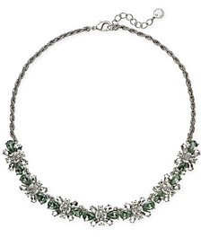 "Charter Club Multi-Crystal Cluster Collar Necklace, 16"" + 2"" extender, Created for Macy's"