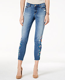 Vintage America Embroidered Skinny Jeans