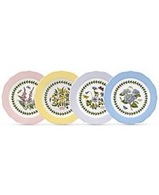 Dinnerware, Set of 4 Botanic Garden Terrace Assorted Dessert Plates