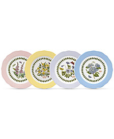 Portmeirion Dinnerware, Set of 4 Botanic Garden Terrace Assorted Dessert Plates