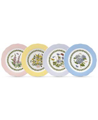 main image  sc 1 st  Macyu0027s & Portmeirion Dinnerware Set of 4 Botanic Garden Terrace Assorted ...