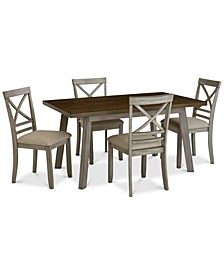 Fairhaven Dining 5-Pc. Set (Table & 4 Side Chairs), Created for Macy's